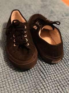 Superga Black Winter Shoes