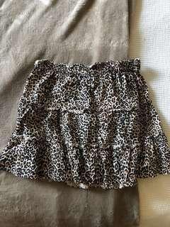 Glassons leopard skirt