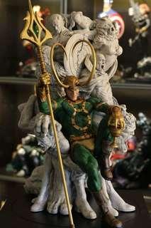 Loki on Throne Statue