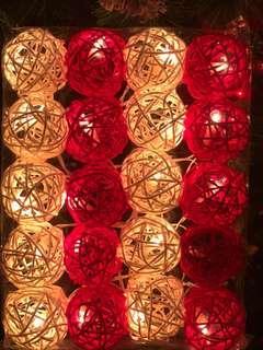Rattan Ball Light