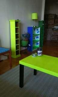 Neon yellow coffee table
