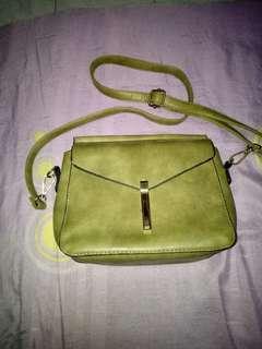 Women mini sling bag army