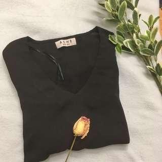 Black flowy sleeve top