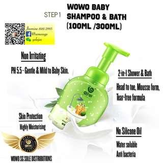🚚 WOWO Baby Shampoo + Body Wash 2 in 1 100ML/300ML (FREE Delivery + Gift)