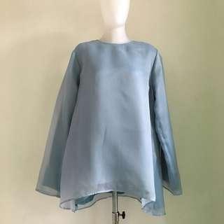 Organza blouse blue