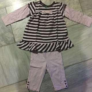 Matching Leggings And Tunic Top For Kids 2T 24mos Toddler