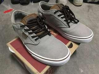 Vans atwood gray and brown size 8