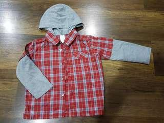 Kid 's red plaid shirt (3 - 5 years old)