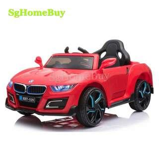 Instock - nice electric car in red BMW