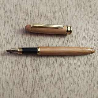 Bamboo Fountain Pen 0.5mm Fine Nib