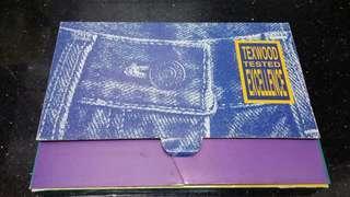 (九十年代)-texwood apple 牛仔布記事包連筆記本