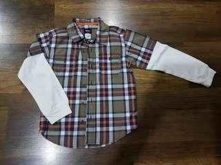 Kid 's Carters plaid shirt (3 - 6 years old)
