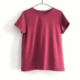 🚚 Uniqlo Women Dry-Ex Crew Neck Short Sleeved Tee in Fuchsia