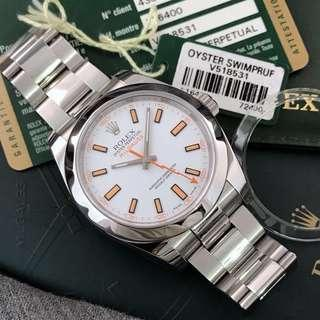 Rolex Milgauss White Dial V Series 2010 Box And Paper