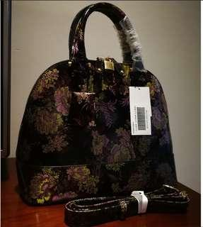 *Perfect Christmas Gift* Patent Shimmering Floral Leather Handbag | Sling