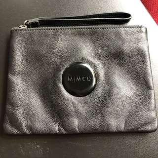 Mimco medium pouch matte black