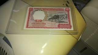 A1 (AU) Malaya $10 1961
