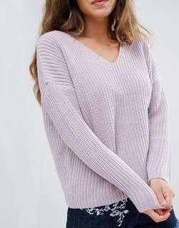 asos purple knit