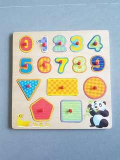 ABC and Shapes Wooden Puzzles