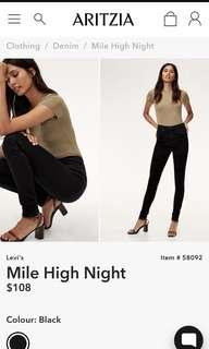 Levi's Mile High Night Size 26