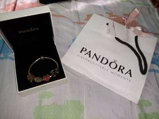 Authentic Pandora with free charms