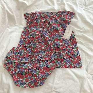 Carter's top and bloomers