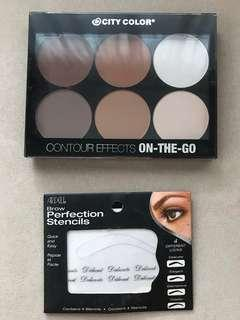 Contour Effects and Ardell brow stencils (good as new)