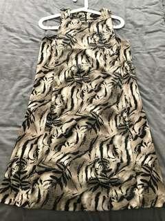 Mango Collection Midi Dress Leopard Pattern