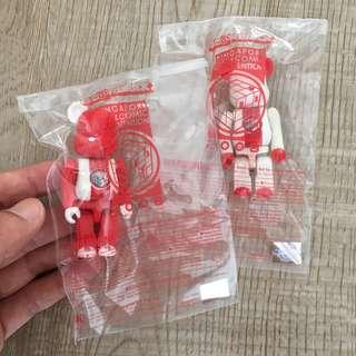 Stgcc Bearbrick 2008 Exclusive red and white pair collectible figure set pack designer basic toys