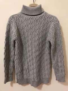 🚚 童高領灰毛衣