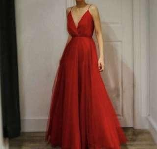 Red Maxi Dress - Prom/Wedding Guest