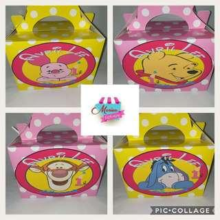 Customised Winnie The Pooh Goodie Lunch Box