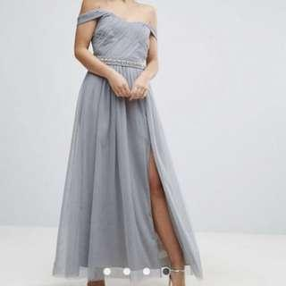 Little Mistress Maxi Dress- Grey UK6/US2