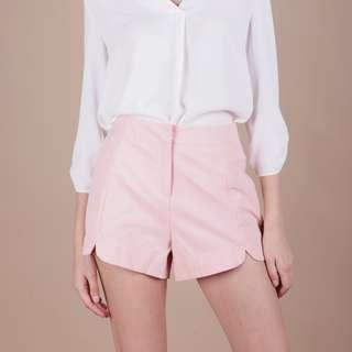 TTR Fyn Curved Hem Shorts in Pink
