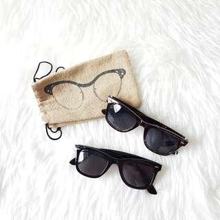 BUNDLE Ray-Ban Inspired Sunglasses in Tortoise Shell Brown and Black