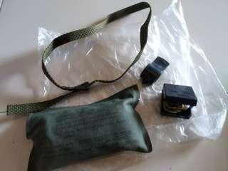 army expire bandage, wistle, earplug and tie down band