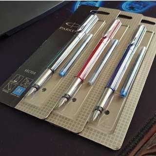 Parker Vector Chrome Trim Fountain Pen