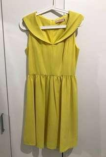 CUCI GUDANG Dress kuning/yellow dress