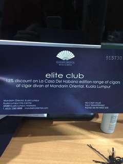 50% Cigar Mandarin Oriental