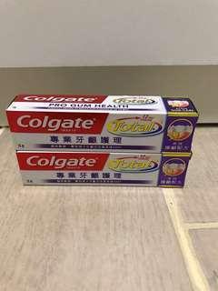 售: Colgate Total 專業牙齦護理 牙膏 18g x2 支