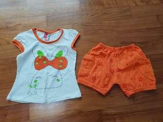 All 5 Sets For $10: Baby Girl Top & Bottom Sets  #single11