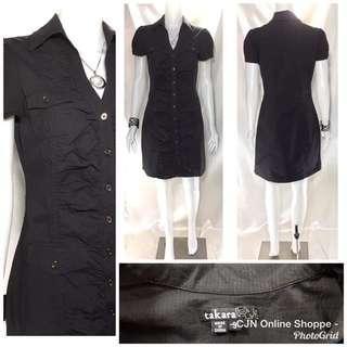 👗 Beautiful black dress with ruching upfront