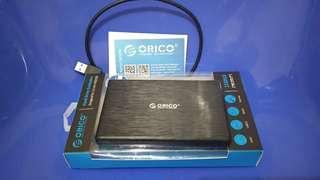 Hardisk HDD Eksternal 500GB + casing ORICO