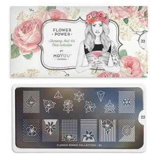 MoYou London Flower Power 22 Stamping Plate