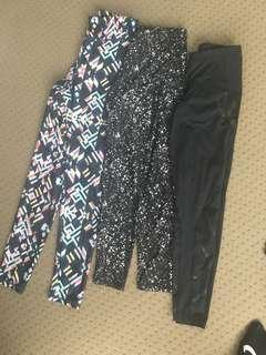 3 pairs of leggings - 2XU & Cotton On Body
