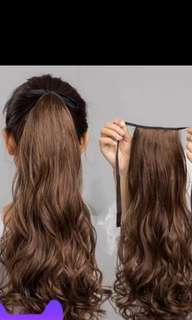 Hair extension brown