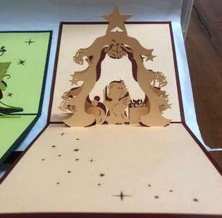 Christmas In NEXT MONTH! 3D Handmade Pop Up Card For Clearance Sale