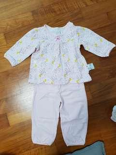 2 Sets For $12: Uniqlo Baby Girl Pyjamas