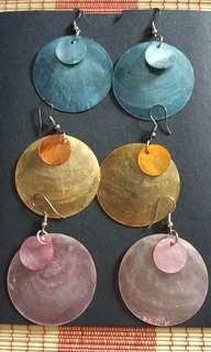 Shell Earings - set of 3
