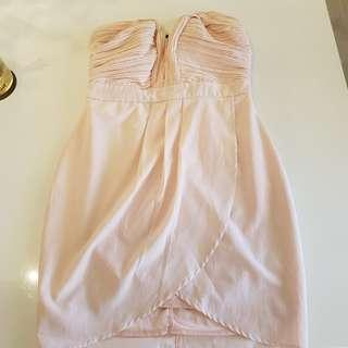 pink strapless dress size 10